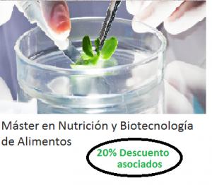 master en nutricion y biotecnologia de los alimentos